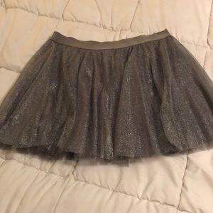 Silver Tulle Skirt